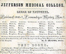 A Brief History of Thomas Jefferson University