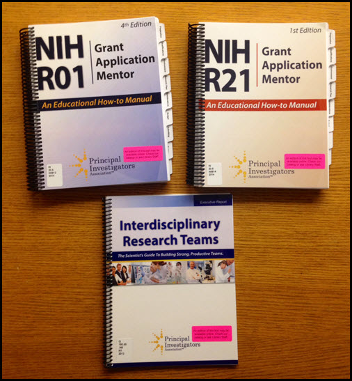 3 grant application how-to manuals from the Principal Investigators Association