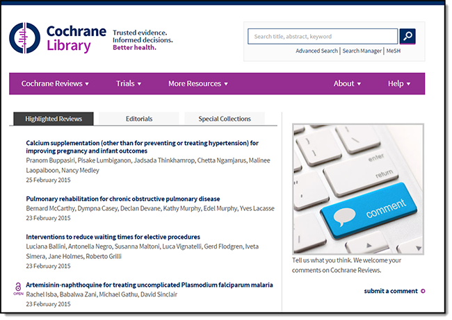 cochrane database