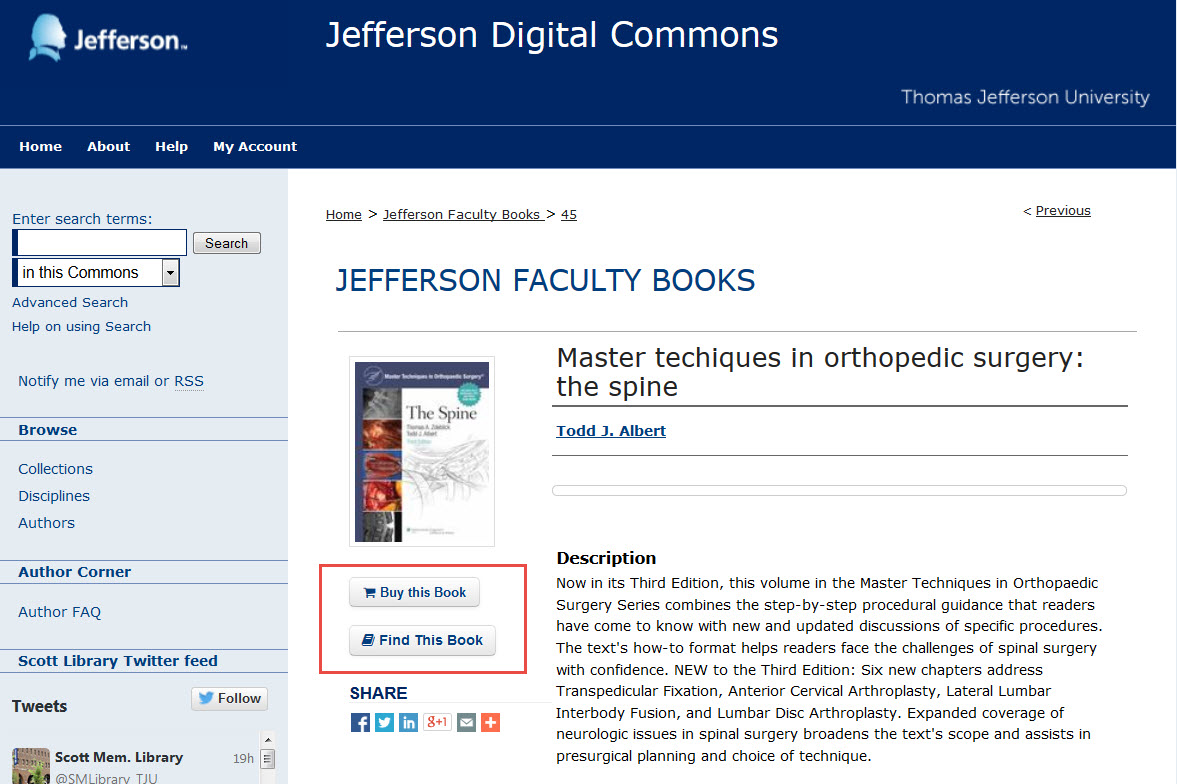 Jefferson Faculty Books record