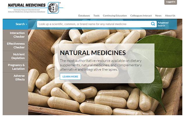 Natural Medicines home