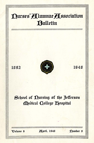 Nurses Alumni Bulletin 1948